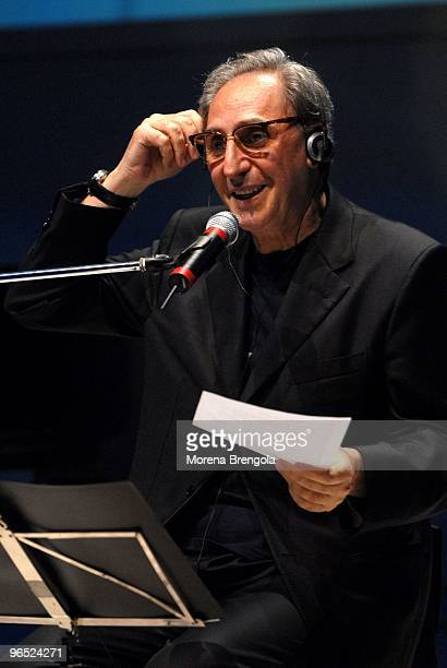 Franco Battiato performs at Teatro dal Verme on July 02 2007 in Milan Italy