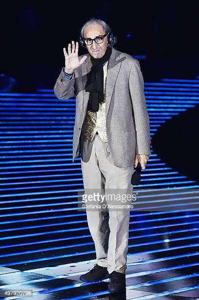 Franco Battiato performs at 'X Factor' Tv Show on November 19 2015 in Milan Italy
