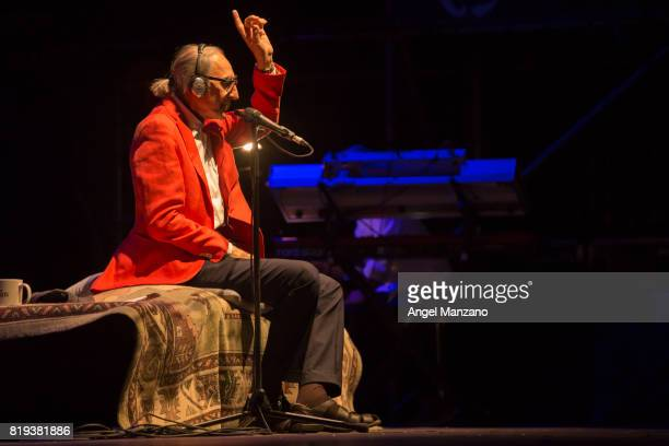 Franco Battiato performs on stage at Noches del Botanico on July 18 2017 in Madrid Spain