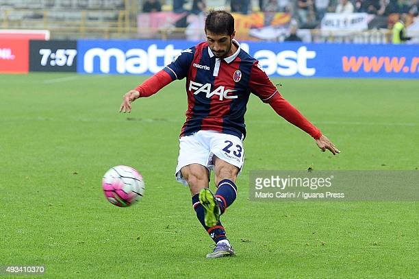 Franco Brienza of Bologna FC in action during the Serie A match between Bologna FC and US Citta di Palermo at Stadio Renato Dall'Ara on October 18...