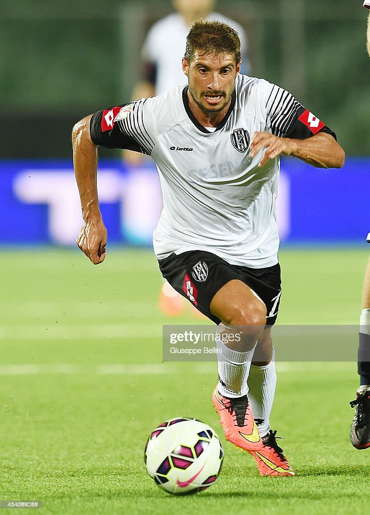 Franco Brienza of Cesena in action during the TIM Cup match between AC Cesena and Casertana at Dino Manuzzi Stadium on August 24, 2014 in Cesena, Italy.