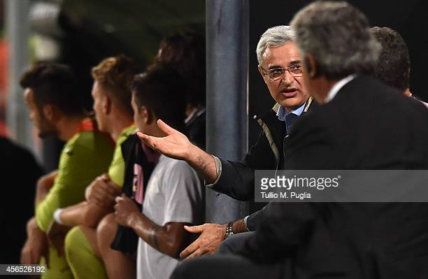 Franco Ceravolo Sport Manager of Palermo gestures during the Serie A match between US Citta di Palermo and UC Sampdoria at Stadio Renzo Barbera on...
