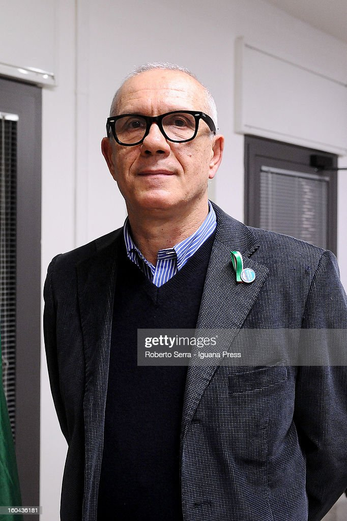 Franco Cremesani candidate in next political elections to Italian Parliament attends a meeting with his supporters of Fratelli d'Italia party at their electoral headquarters on January 31, 2013 in Bologna, Italy. The general election in Italy is Febrary 24-25.