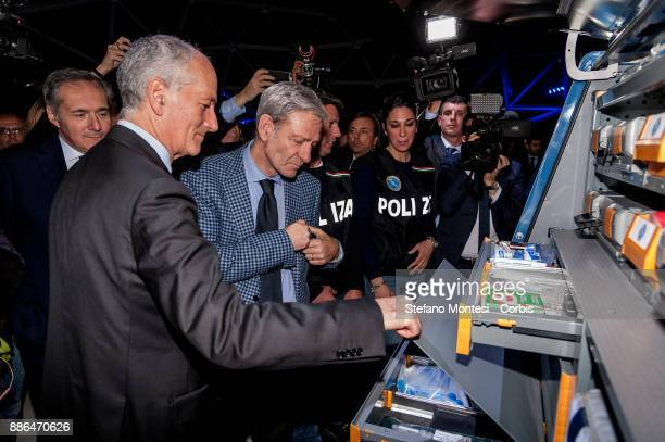 Franco Gabrielli Chief of Police during the presentation of Fullback for the Scientific Police on December 5 2017 in Rome Italy First of a fleet of...