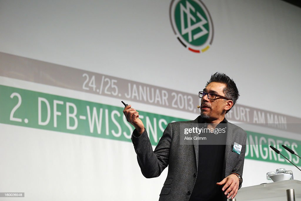 Franco Impellizzeri of Schulthess clinic Zurich addresses the DFB Science Congress 2013 at the Steigenberger Airport Hotel on January 25, 2013 in Frankfurt am Main, Germany.