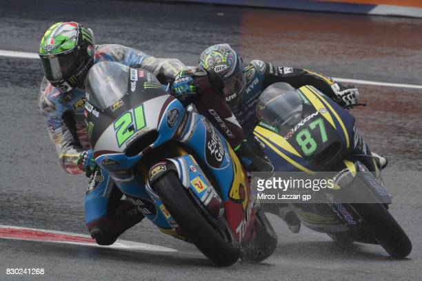 Franco Morbidelli of Italy and EG 00 Marc VDS leads the field during the MotoGp of Austria Free Practice at Red Bull Ring on August 11 2017 in...