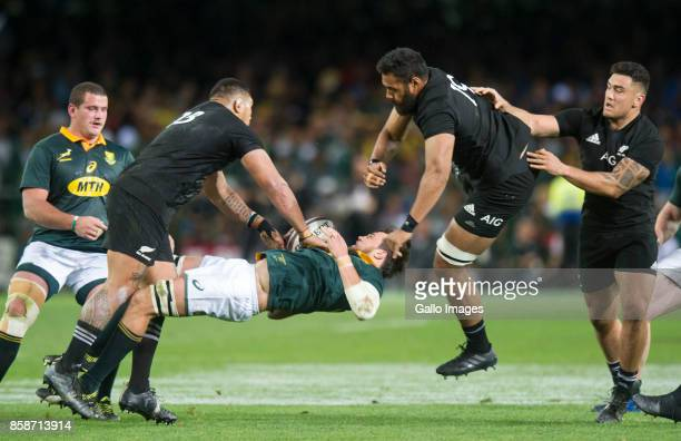Franco Mostert of South Africa during the Rugby Championship 2017 match between South Africa and New Zealand at DHL Newlands on October 07 2017 in...