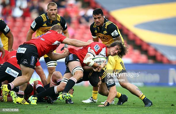 Franco Mostert of the Emirates Lions during the round 10 Super Rugby match between Emirates Lions and Hurricanes at Emirates Airline Park on April 30...