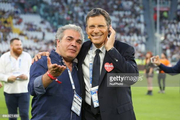 Franco Neri and Fabrizio Frizzi attend the twentysixth Partita del Cuore charity football game at Juventus Stadium on may 30 2017 in Turin Italy