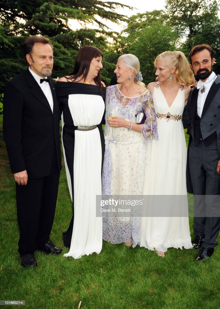 Franco Nero, Anjelica Huston, Vanessa Redgrave, Joely Richardson and Evgeny Lebedev attend the Raisa Gorbachev Foundation Party, at Stud House, Hampton Court Palace on June 5, 2010 in Richmond upon Thames, London, England. The night is in aid of the Raisa Gorbachev Foundation, an international fund fighting child cancer.