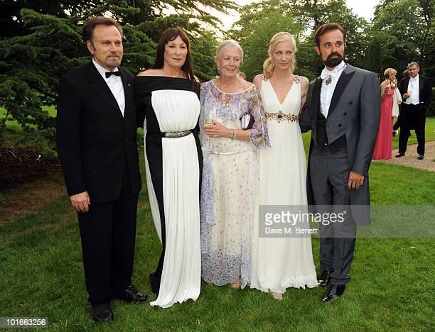 Franco Nero Anjelica Huston Vanessa Redgrave Joely Richardson and Evgeny Lebedev attend the Raisa Gorbachev Foundation Party at Stud House Hampton...