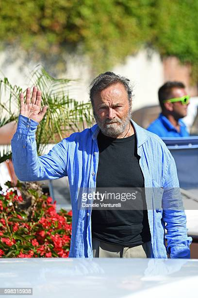Franco Nero arrives at Lido during the 73rd Venice Film Festival on September 1 2016 in Venice Italy