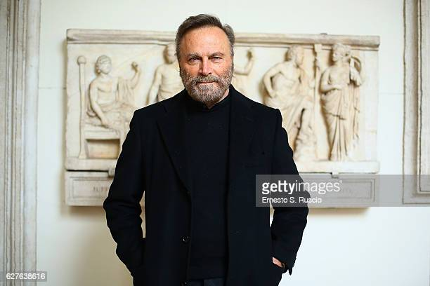 Franco Nero attends the Songs Of Stone' By Gabriele Tinti at Museo Nazionale Romano Palazzo Altemps on December 4 2016 in Rome Italy
