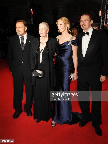 Franco Nero Vanessa Redgrave and Joely Richardson arrive at the Orange British Academy Film Awards 2010 at The Royal Opera House on February 21 2010...
