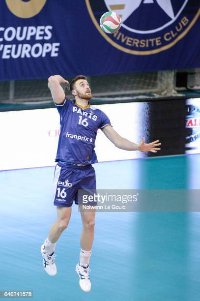 Franco Paese of Paris during the volleyball Ligue A match between Paris Volley and Nantes Reze at Salle Pierre Charpy on February 23 2017 in Paris...