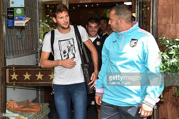 Franco Vazquez looks on at US Citta' di Palermo training camp base on July 14 2016 in Bad Kleinkirchheim Austria