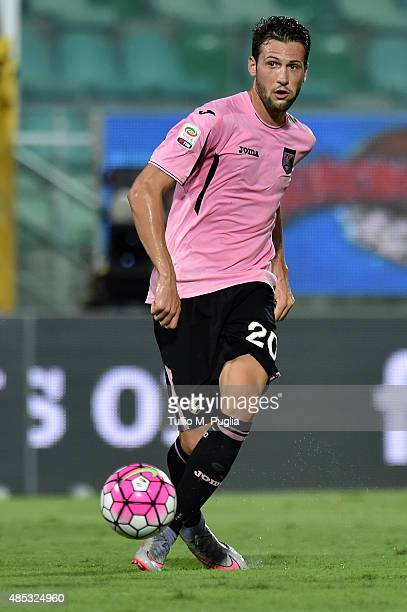 Franco Vazquez of Palermo in action during the Serie A match between US Citta di Palermo and Genoa CFC at Stadio Renzo Barbera on August 23 2015 in...