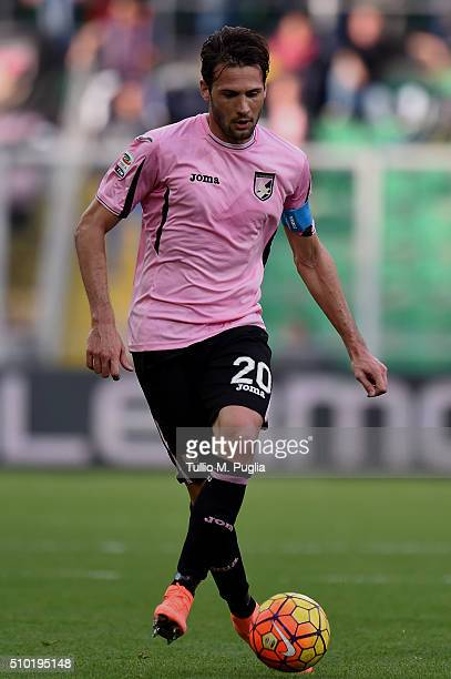 Franco Vazquez of Palermo in action during the Serie A match between US Citta di Palermo and Torino FC at Stadio Renzo Barbera on February 14 2016 in...