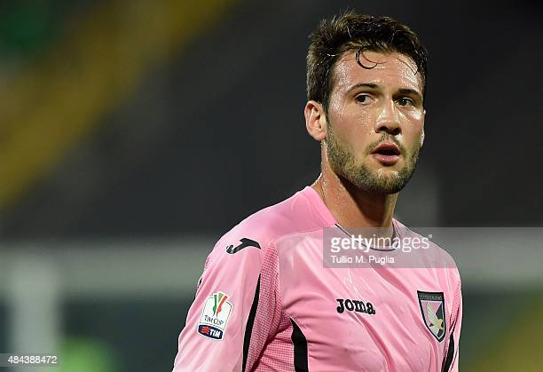 Franco Vazquez of Palermo in action during the TIM Cup match between US Citta di Palermo and US Avellino at Stadio Renzo Barbera on August 15 2015 in...