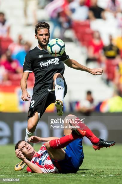 Franco Vazquez of Sevilla FC in action during the La Liga 201718 match between Atletico de Madrid and Sevilla FC at the Wanda Metropolitano on 23...