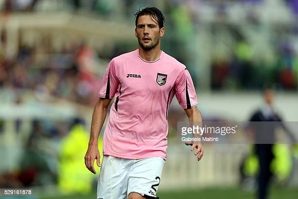 Franco Vazquez of US Citta di Palermo reacts during the Serie A match between ACF Fiorentina and US Citta di Palermo at Stadio Artemio Franchi on May...