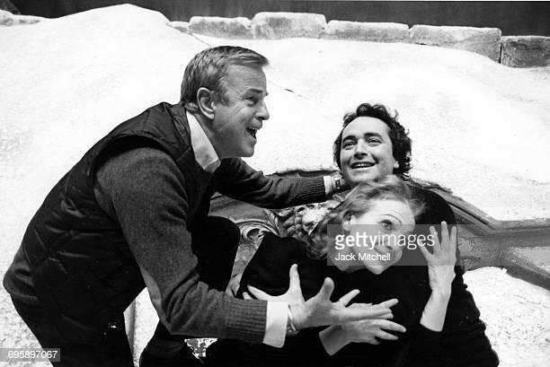 Franco Zeffirellii directing Teresa Stratas and Jose Carreras in La Bohem at the Metropolitan Opera in December 1981