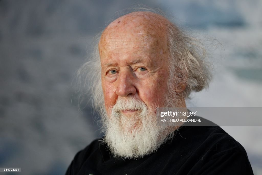 Franco-Canadian Astrophysicist Hubert Reeves looks on during the 13th International Meteo and Climate Forum on May 27, 2016 in Paris. / AFP / MATTHIEU