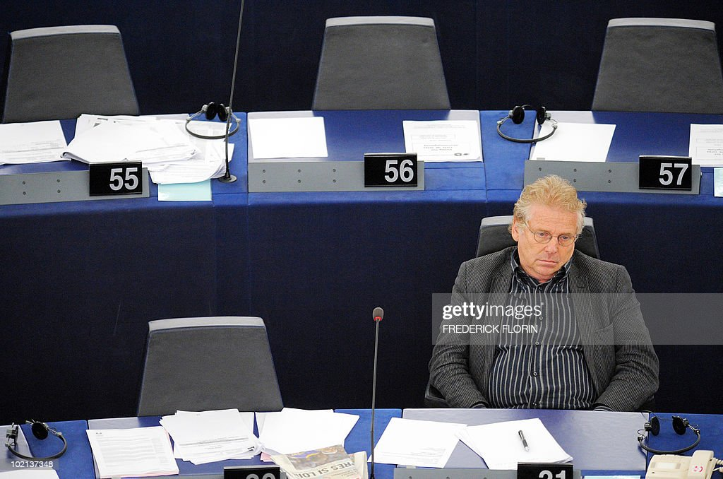 Franco-German Green MEP president Daniel Cohn Bendit attends a debate on the Israeli military operation against the humanitarian flotilla and the Gaza blockade, at the European Parliament on June 16, 2010 in Strasbourg, eastern France.