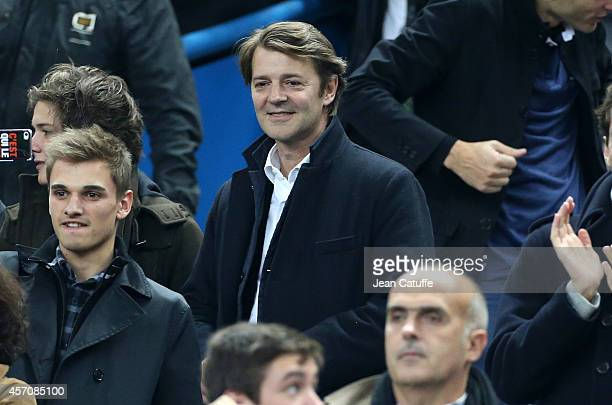 Francois Baroin attends the international friendly match between France and Portugal at Stade de France on October 11 2014 in SaintDenis near Paris...