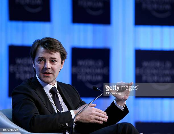 Francois Baroin France's finance minister speaks during a session on day three of the World Economic Forum in Davos Switzerland on Friday Jan 27 2012...