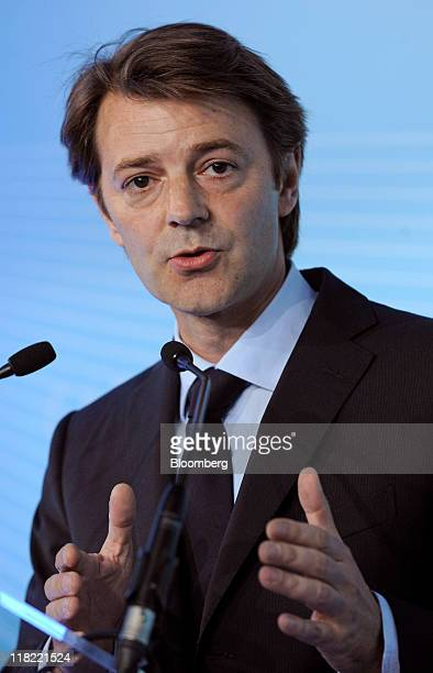 Francois Baroin France's finance minister speaks during the Paris Europlace International Financial Forum at the Pavillon d'Armenonville in Paris...