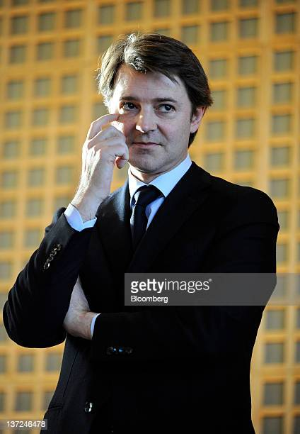 Francois Baroin France's finance minister stands and listens during the annual press briefing at the Ministry of the Economy Finance and Industry in...
