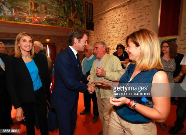 Francois Baroin French rightwing Les Republicains party senator and head of the campaign committee of the right and the centre for the upcoming...