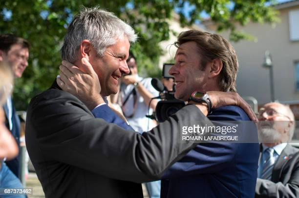 TOPSHOT Francois Baroin French rightwing Les Republicains party senator and head of the campaign committee of the right and the centre for the...