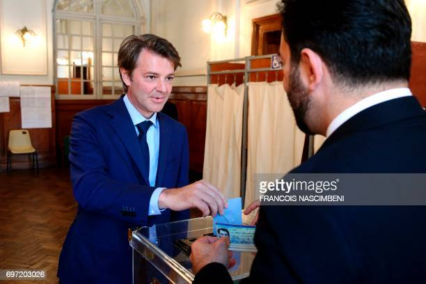 Francois Baroin French rightwing Les Republicains party senator and head of the campaign committee of the rightwing and centre for France's...