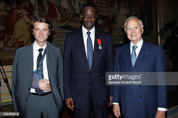 Francois Baroin Tidjane Thiam President of the ABE and former politician Chief Executive of Prudential and Claude Bebear President of Axa Insurrance...
