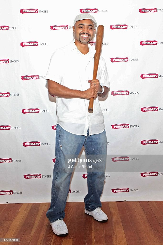 Francois Battiste attends the cast meet and greet for the upcoming Off-Broadway production 'Bronx Bombers' at Playwrights Horizons Rehearsal Studios on August 21, 2013 in New York City.