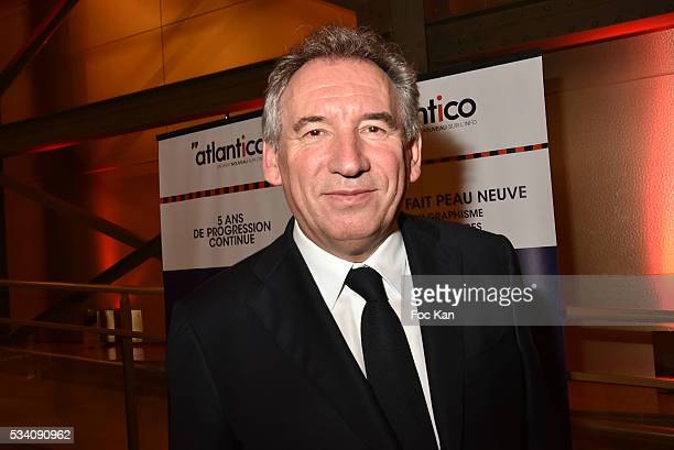 Francois Bayrou attends Atlantico 5th Anniversary at Cafe Campana in Musee D'Orsay on May 24 2016 in Paris France