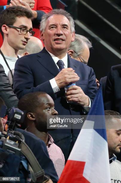 Francois Bayrou attends the campaign rally of French presidential candidate Emmanuel Macron at AccorHotels Arena on April 17 2017 in Paris France