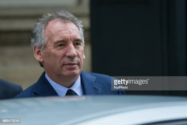 Francois Bayrou France's minister for justice departs following a cabinet meeting at the Elysee Palace in Paris France on Thursday May 18 2017