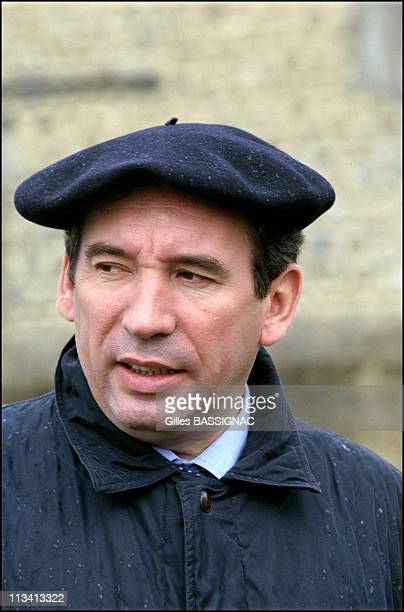 Francois Bayrou In Campaign On May 17th 2000 In France