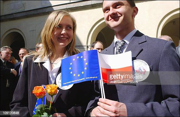 Francois Bayrou On An Official Trip To Warsaw On The First Day Of Poland As A Member Of The European Community On May 1 2004 In Warsaw Poland...
