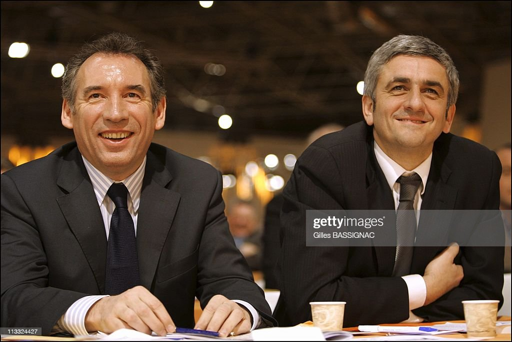 Francois Bayrou Opens The Extraordinary Congress Of The Udf And Votes For Its Own And Single Motion Of Independence Face To Face Of The Right And The Left - On January 28Th, 2006 - In Lyon, France - Here, With Herve Morin