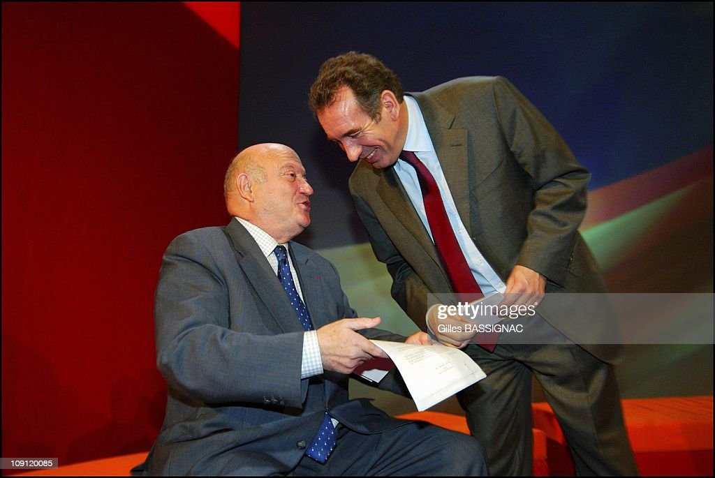 <a gi-track='captionPersonalityLinkClicked' href=/galleries/search?phrase=Francois+Bayrou&family=editorial&specificpeople=551791 ng-click='$event.stopPropagation()'>Francois Bayrou</a> Presents The Heads Of List For The Regional Election During The Udf National Council. On December 13, 2003 In Issy-Les-Moulineaux, France. <a gi-track='captionPersonalityLinkClicked' href=/galleries/search?phrase=Francois+Bayrou&family=editorial&specificpeople=551791 ng-click='$event.stopPropagation()'>Francois Bayrou</a> And <a gi-track='captionPersonalityLinkClicked' href=/galleries/search?phrase=Andre+Santini&family=editorial&specificpeople=2479567 ng-click='$event.stopPropagation()'>Andre Santini</a>