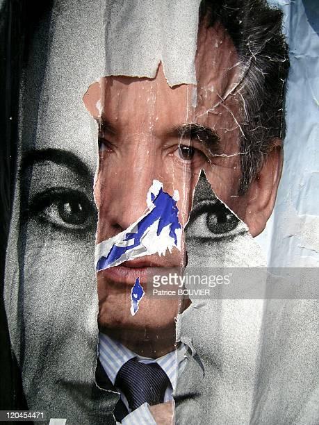 Francois BayrouSegolene Royal's poster in Paris France