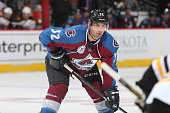 Francois Beauchemin of the Colorado Avalanche skates against the Boston Bruins at the Pepsi Center on October 14 2015 in Denver Colorado The Bruins...