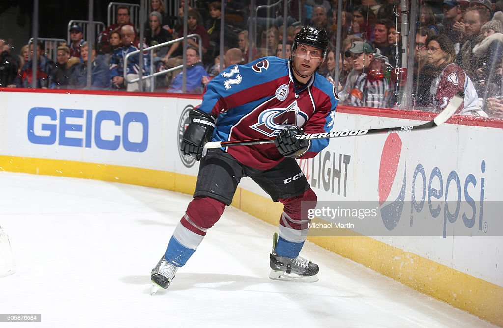 Francois Beauchemin of the Colorado Avalanche skates against the New Jersey Devils at the Pepsi Center on January 14 2016 in Denver Colorado The...
