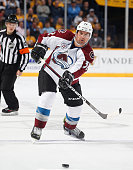 Francois Beauchemin of the Colorado Avalanche skates against the Nashville Predators during an NHL game at Bridgestone Arena on December 12 2015 in...