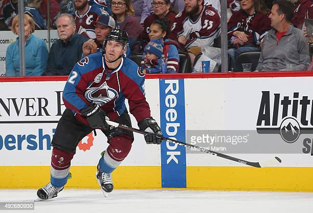 Francois Beauchemin of the Minnesota Wild skates against the Colorado Avalanche at the Pepsi Center on October 8 2015 in Denver Colorado The Wild...