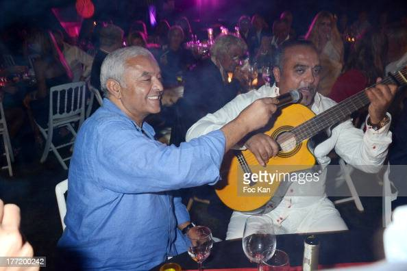 Francois Bennaceur and Chico Bouchikhi from Gypsy King attend the Massimo Gargia's Birthday Dinner at Moulins de Ramatuelle on August 21 2013 in...